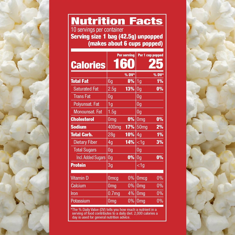 orville redenbacher s skinnygirl butter sea salt microwave popcorn mini bags 15 oz 12 ct