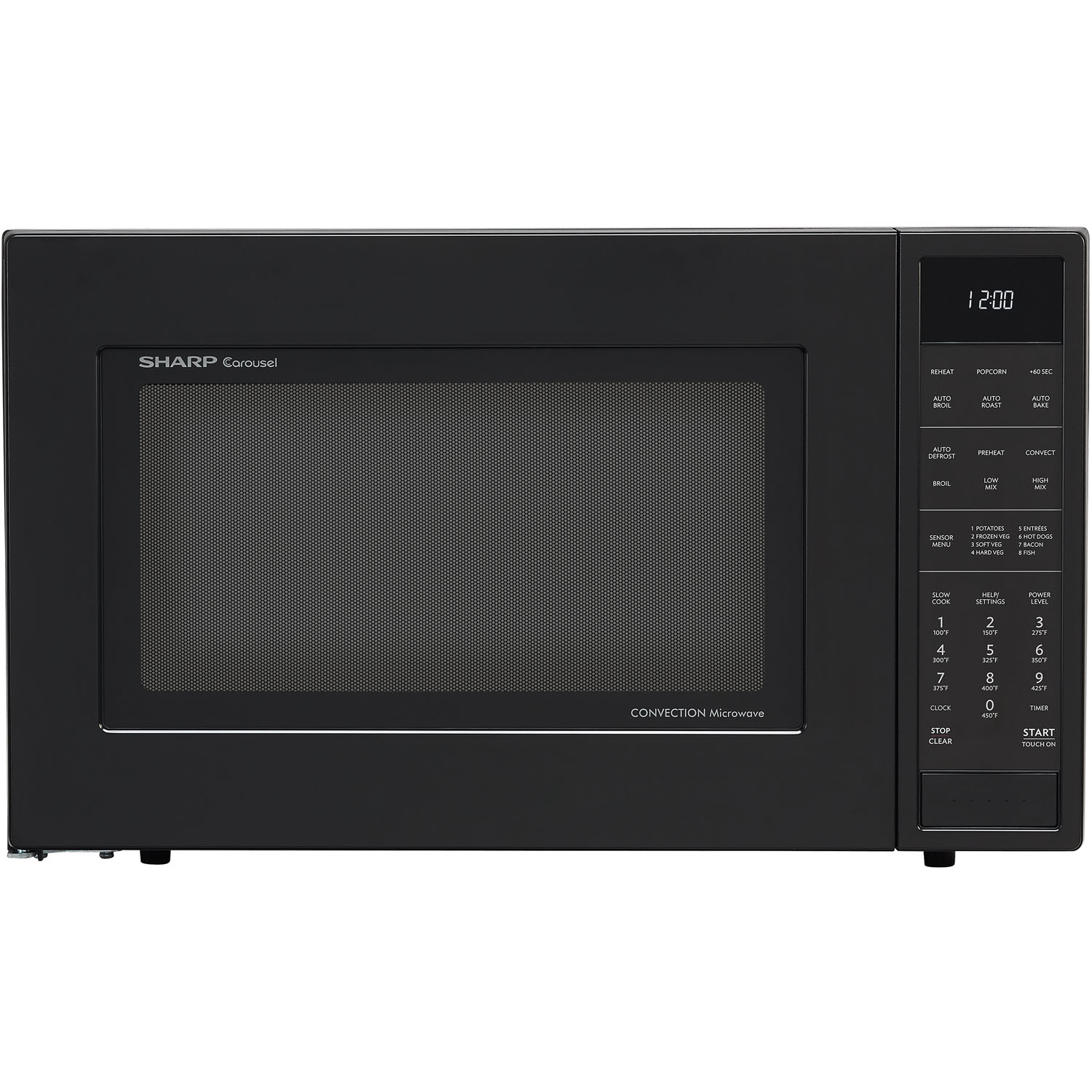 sharp smc1585bb 1 5 cu ft microwave oven with with convection cooking baking and browning in black