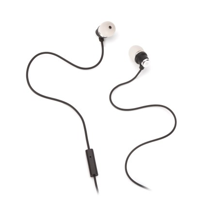 Griffin Black & Grey Bolts Talk Earbuds with Mic, Noise-isolating in-ear headphones with control mic