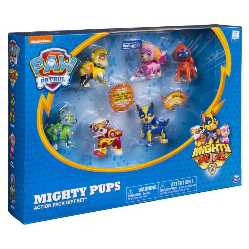 paw patrol mighty pups 6pack gift set original figures