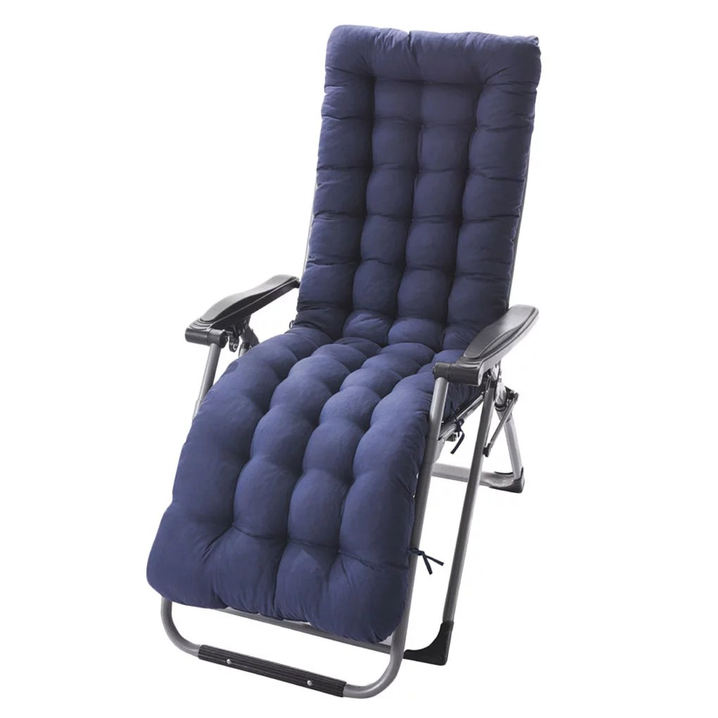recliner cushion indoor outdoor patio high seat back chair cushion thick padded chaise lounger pads mat walmart com
