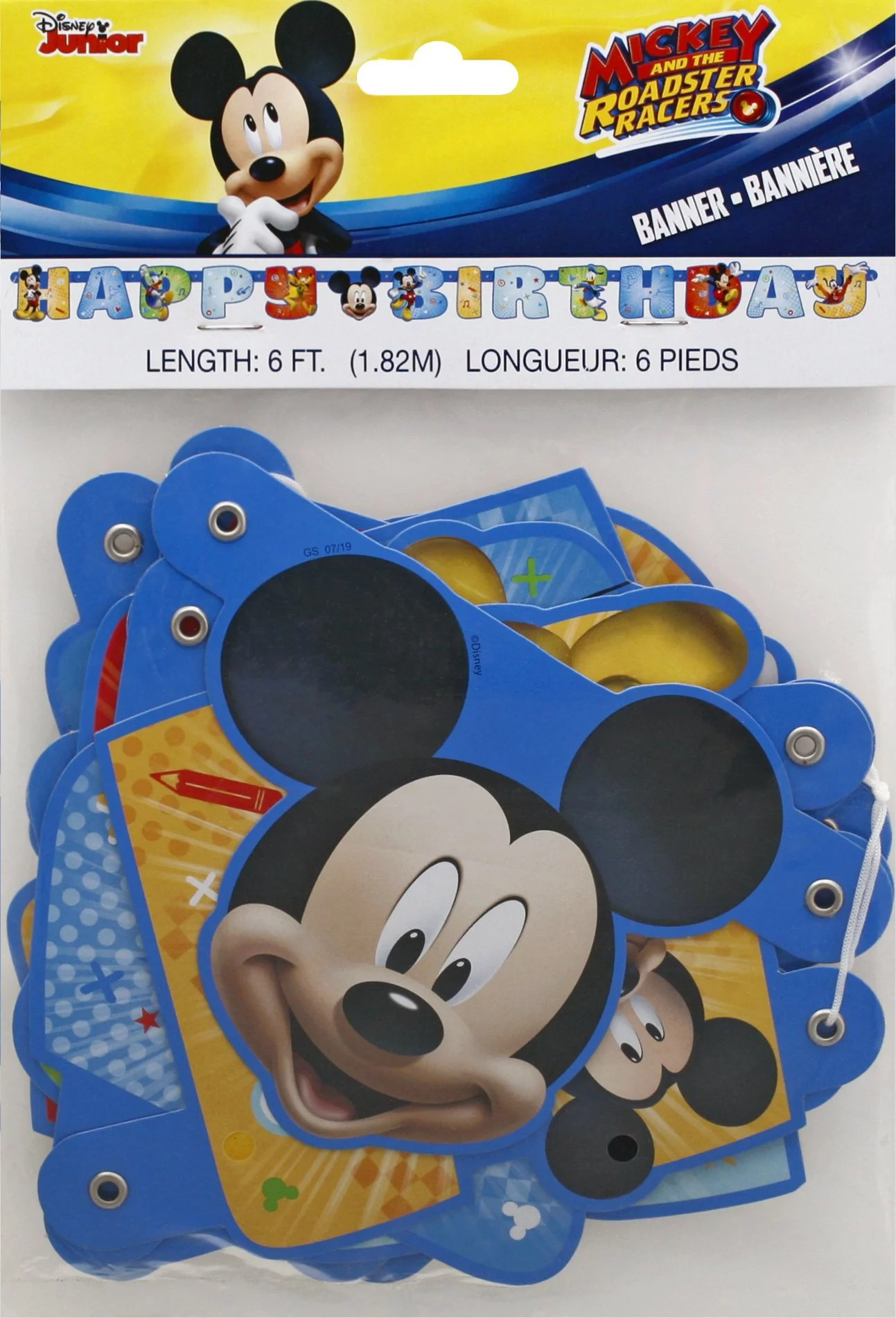Mickey And The Roadster Racers Large Jointed Banner Walmart Com Walmart Com