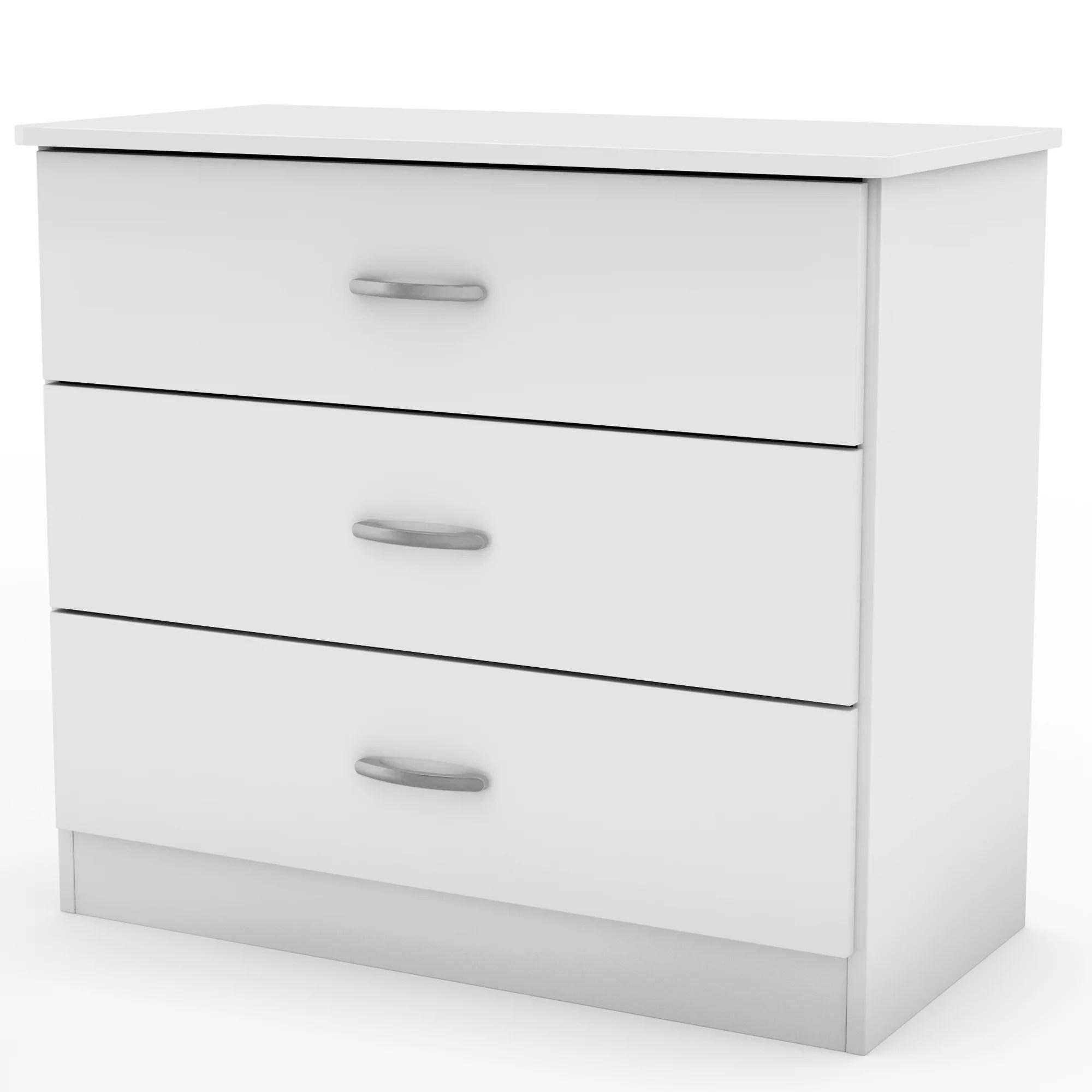 south shore smart basics 3 drawer chest multiple finishes