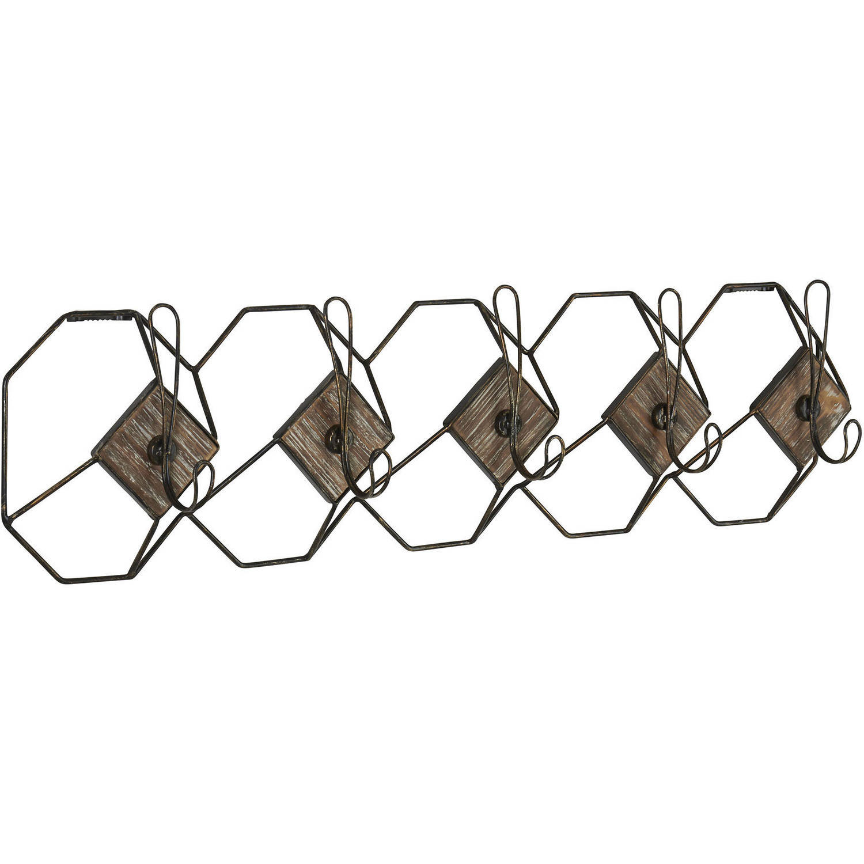 household essentials geometric wall hook coat rack