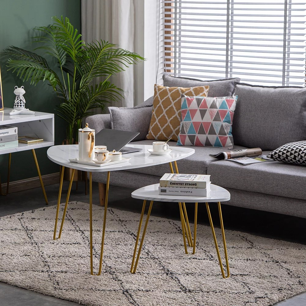 veryke coffee table mid century vintage side table end table for living room modern small marble sofa end tables sets for office white