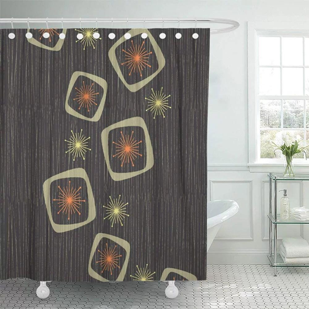 ksadk vintage atomic stars boxes on line inspired mid century modern shower curtain bath curtain 66x72 inch