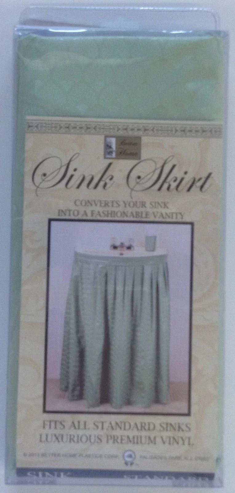 vinyl sink skirt embossed design self stick green