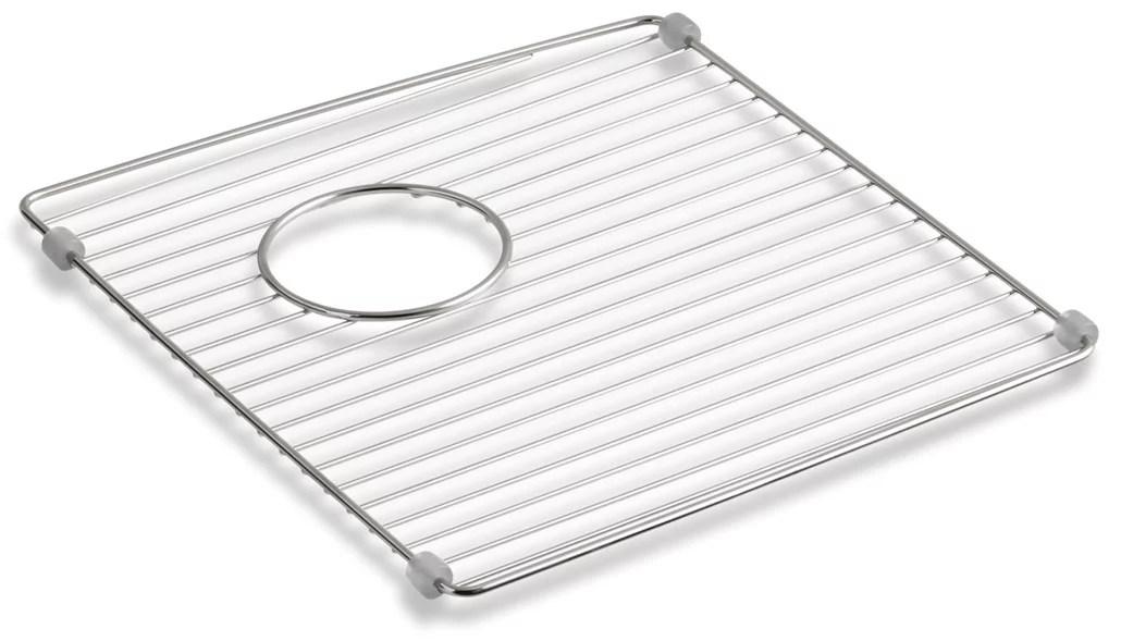 kohler k 6197 brookfield stainless steel basin rack for the k 5846 kitchen sink right or