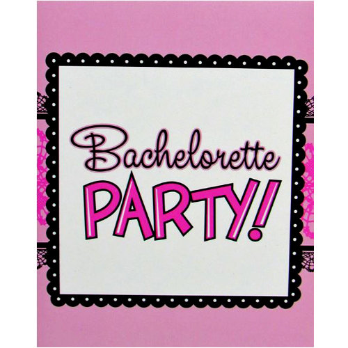 Bulk Buys Pink & Lace Bridal Party Invitations - Case of 24