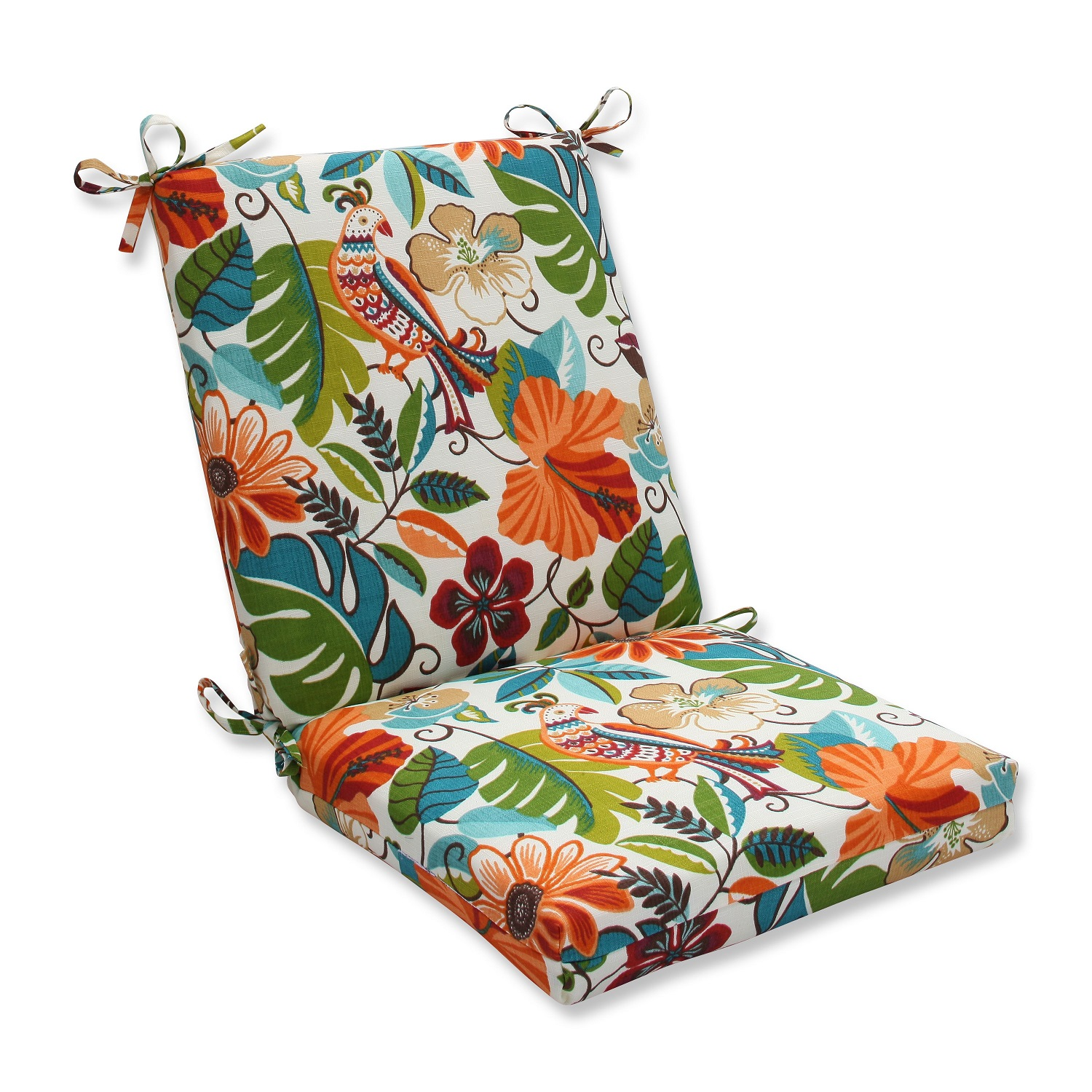 36 5 orange and green floral outdoor patio chair cushions with back 19