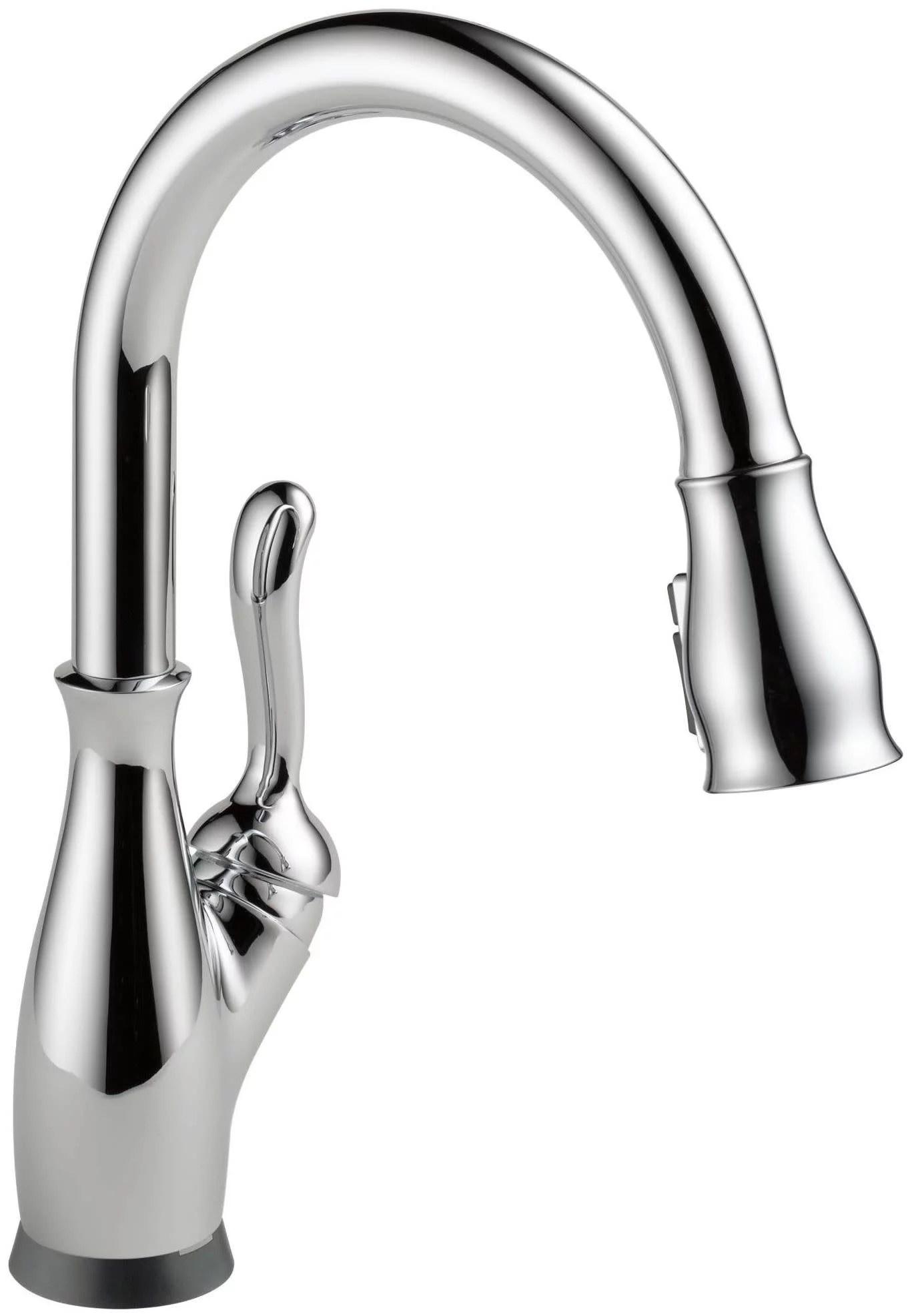 delta 9178tv dst leland voiceiq voice activated pull down kitchen faucet walmart com