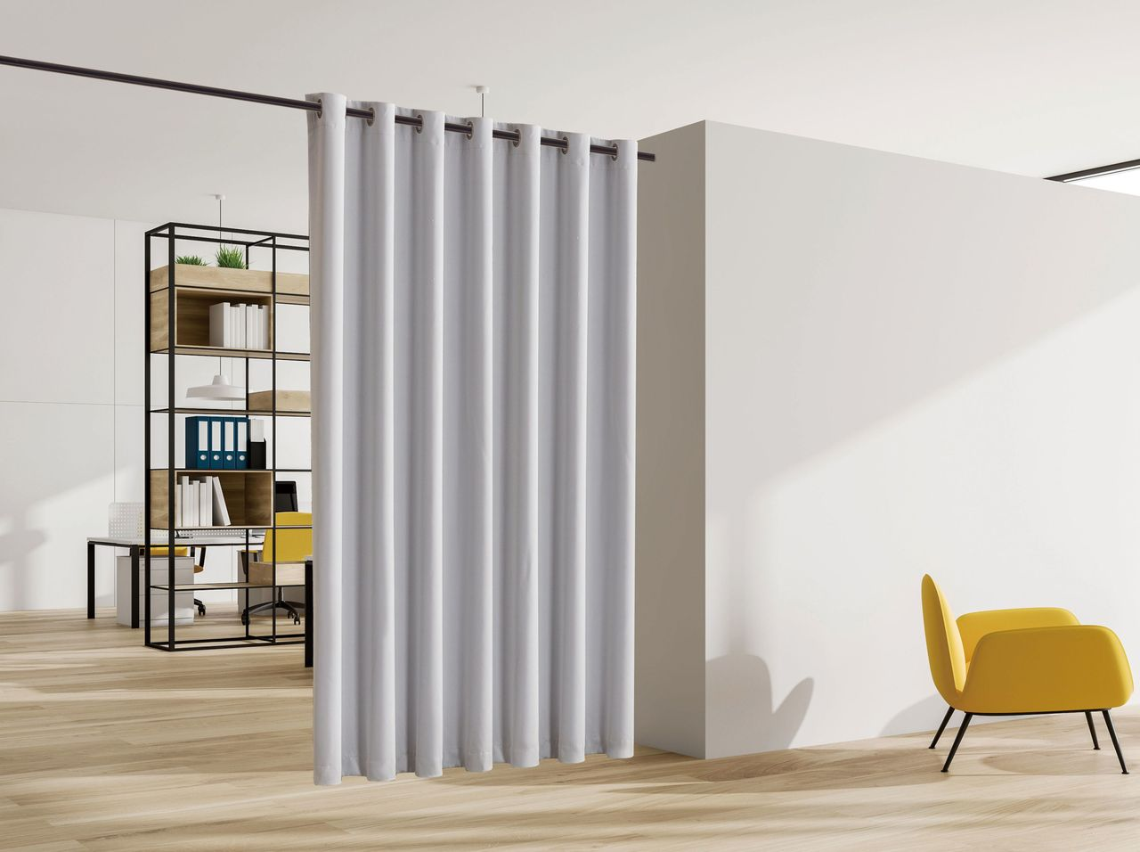 legacy decor blackout curtain with grommet top room divider 48 wide x 84 tall stone color walmart com