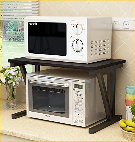 raumeyun 2 tier microwave stand wooden storage rack kitchen wooden shelving microwave oven bakera s rack with spice rack organizer a shelf for