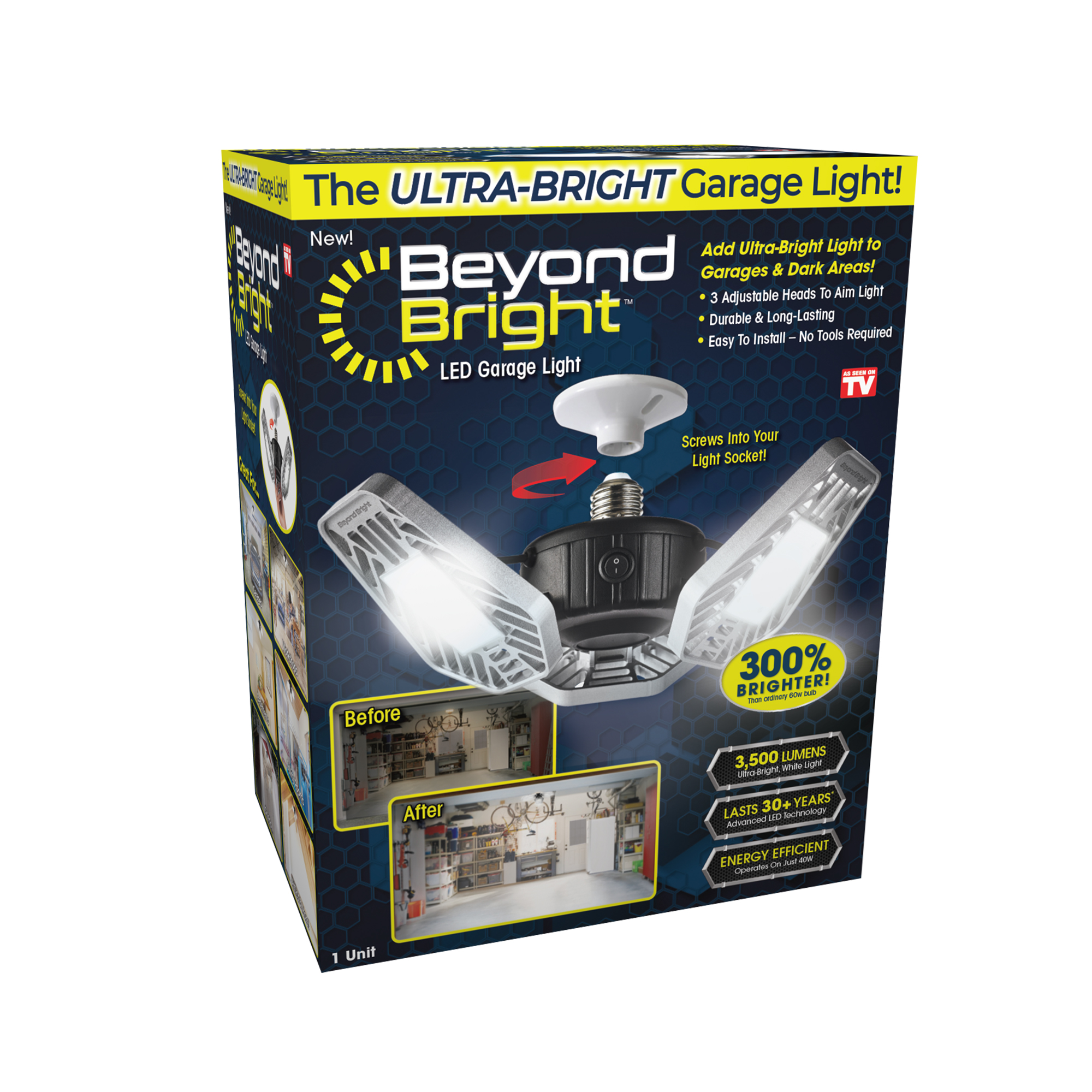 beyond bright led garage light as seen on tv walmart com