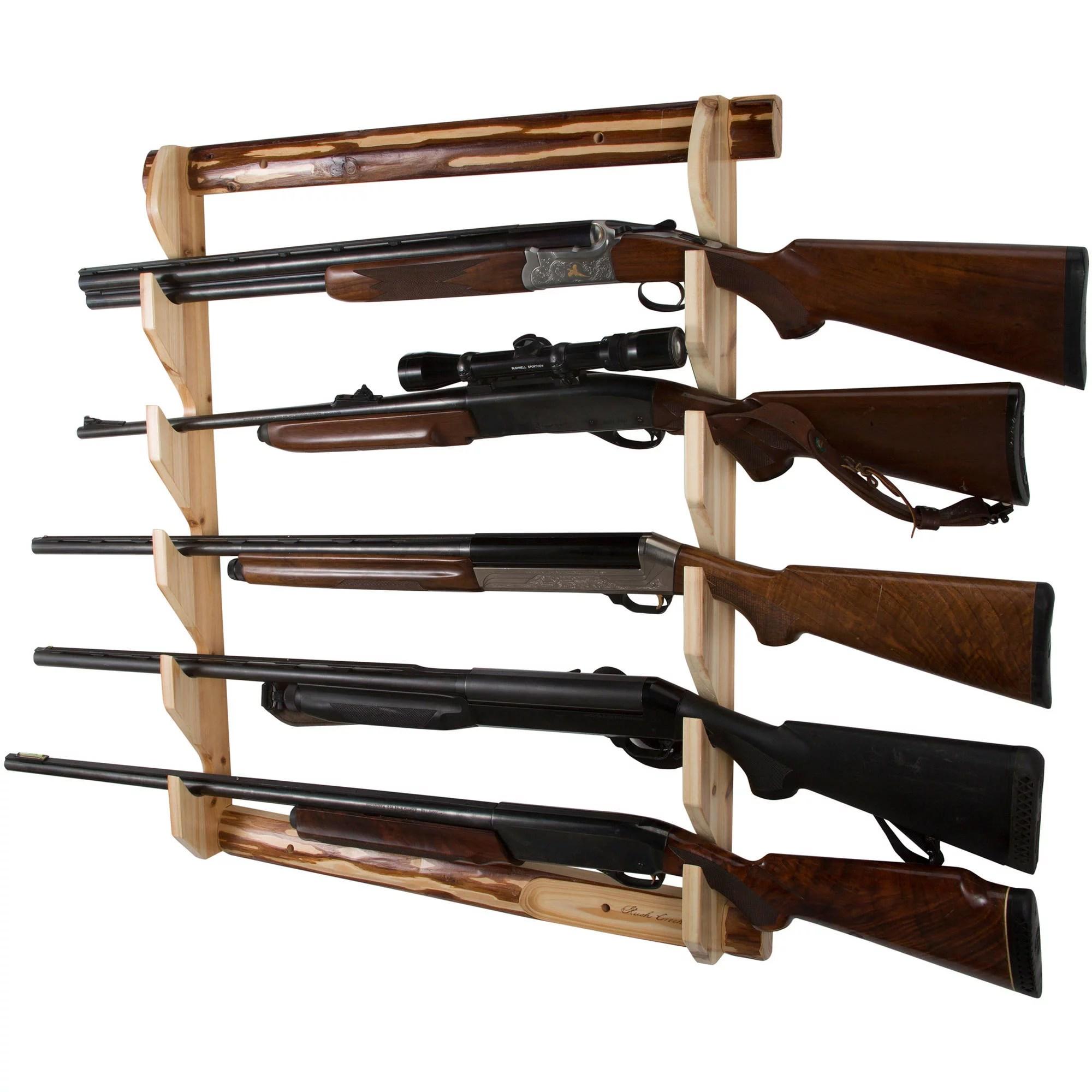 rush creek 5 gun wall storage rack