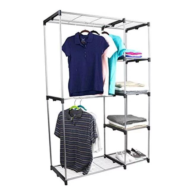 sunbeam free standing garment hanging clothing rack