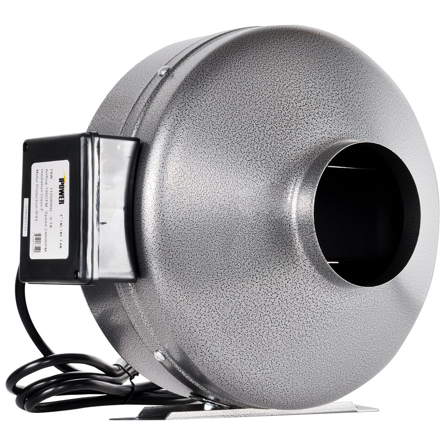 ipower 8 inch 750 cfm inline duct ventilation fan hvac exhaust blower for grow tent grounded power cord 8 grey