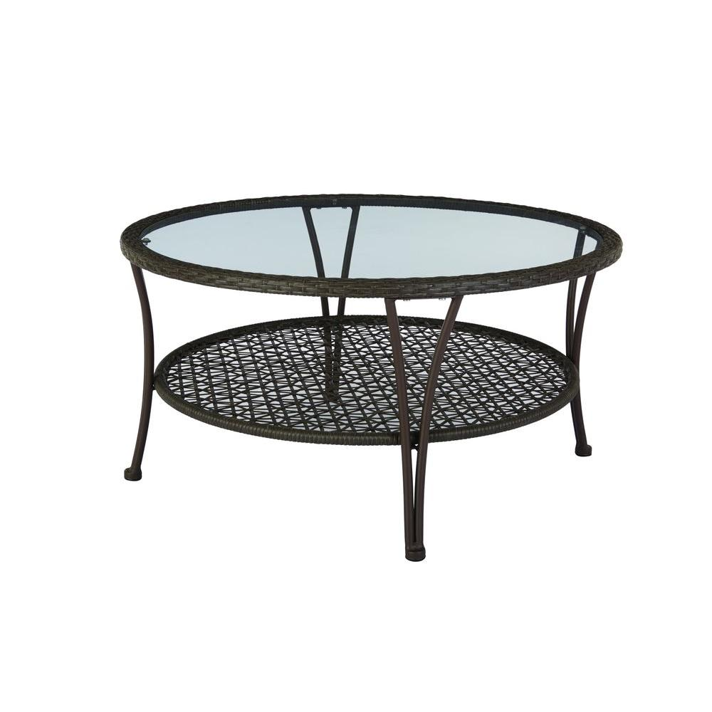 arthur all weather wicker patio coffee table walmart com