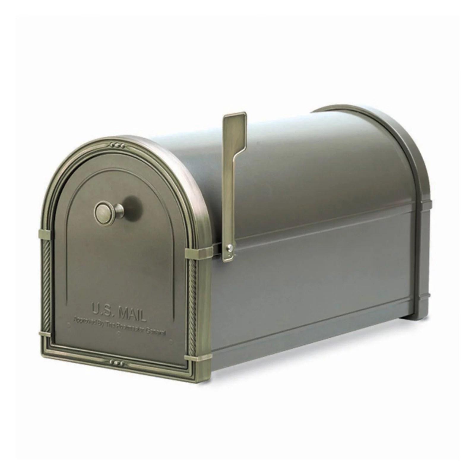 Architectural Mailboxes Coronado Mailbox Black With Antique Bronze Accents Walmart Com Walmart Com