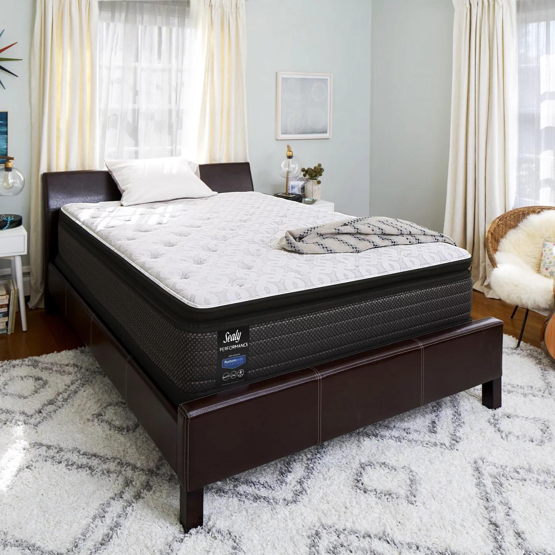 sealy response performance 13 5 plush euro pillow top mattress