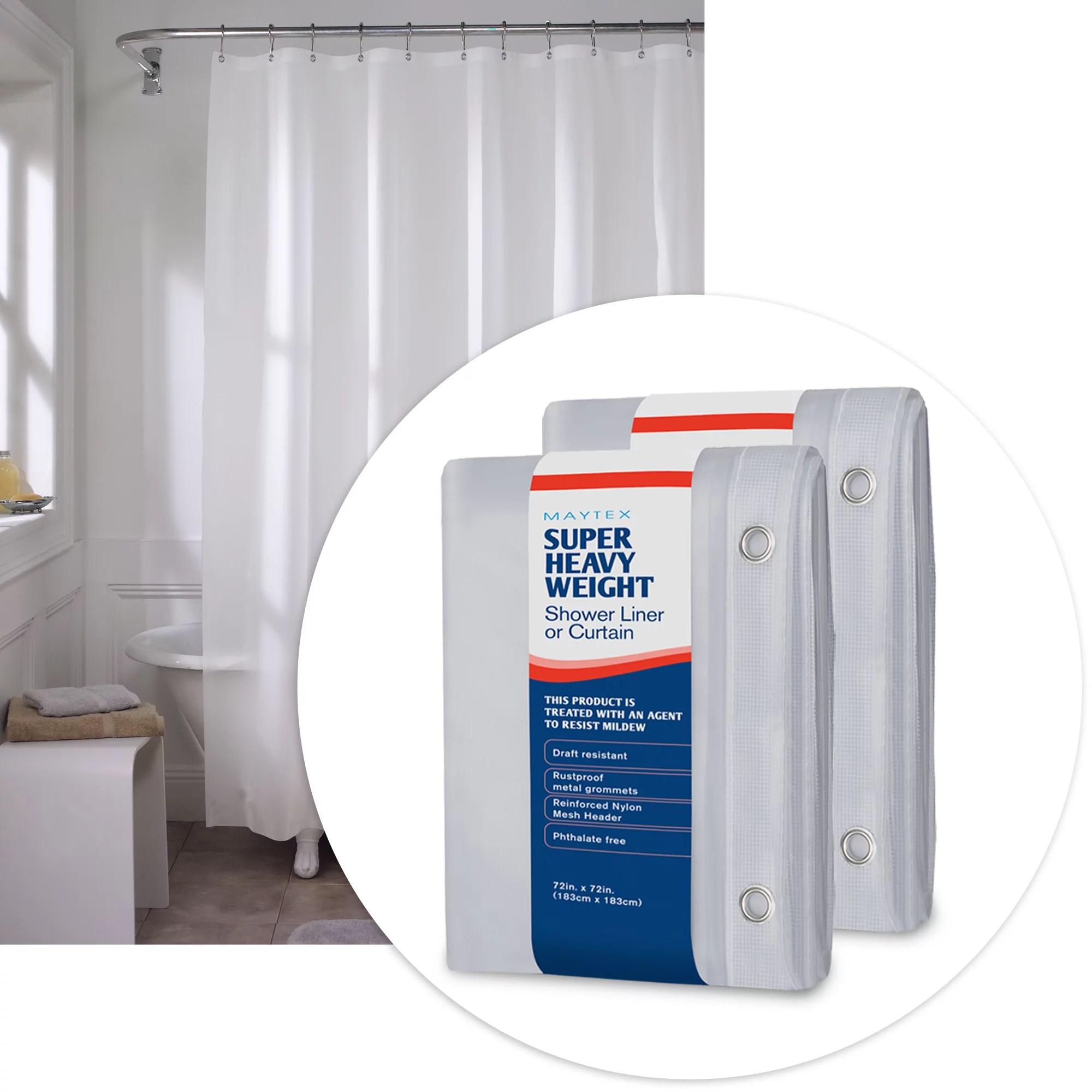queen shower curtain liner white