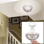 Hampton Direct Ceiling Clip On Diamond Cut Acrylic Dome Light Shade Bulb Fixture Walmart Com Walmart Com
