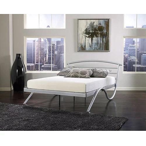 Premier Annika Queen Metal Platform Bed Frame Nickel