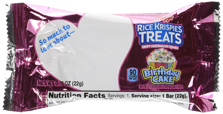 Kelloggs Rice Krispie Treat Birthday Cake Limited Time Offer 36 Bars 790 G Walmart Com Walmart Com