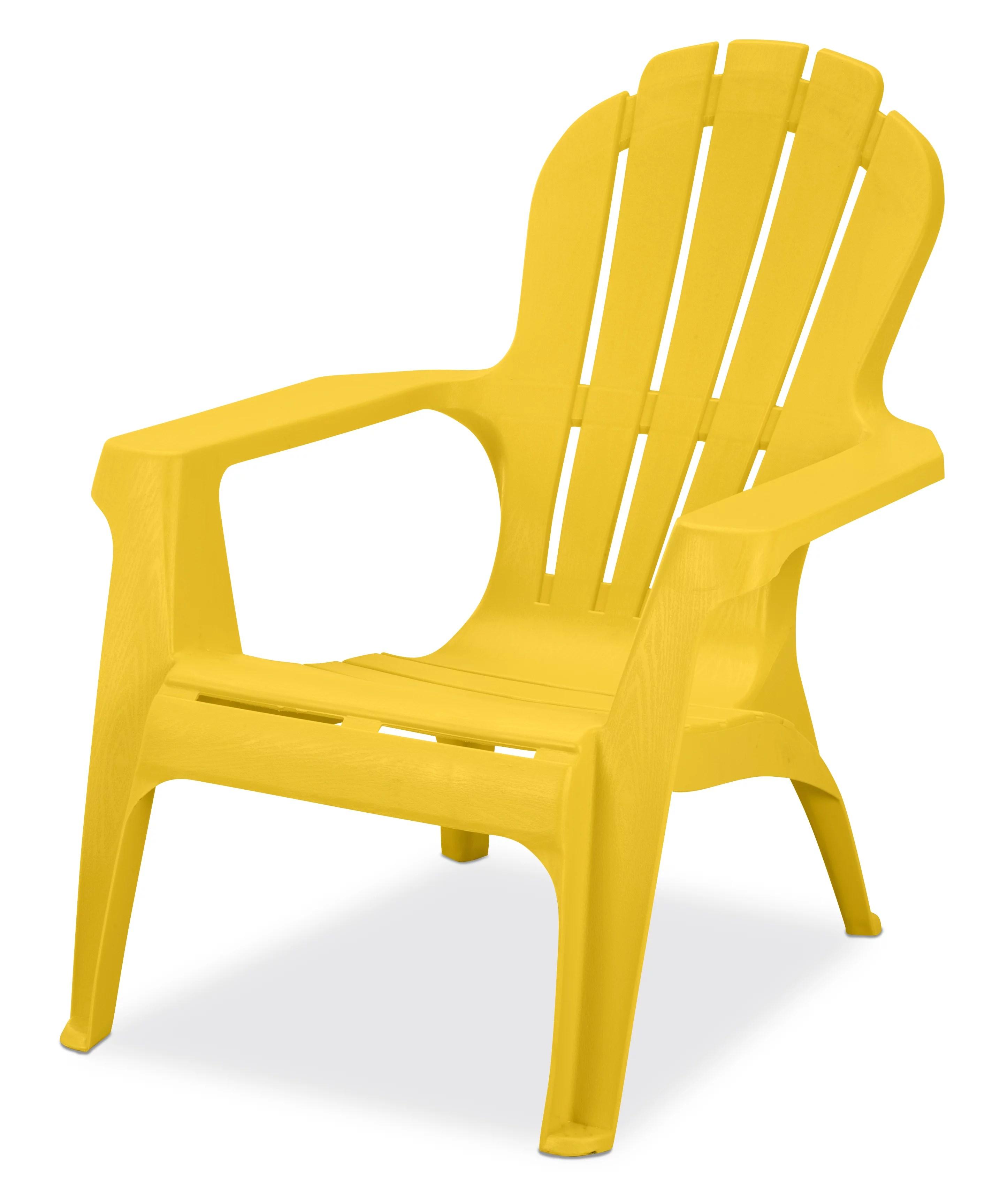 us leisure resin adirondack plastic patio furniture chair yellow walmart com walmart com