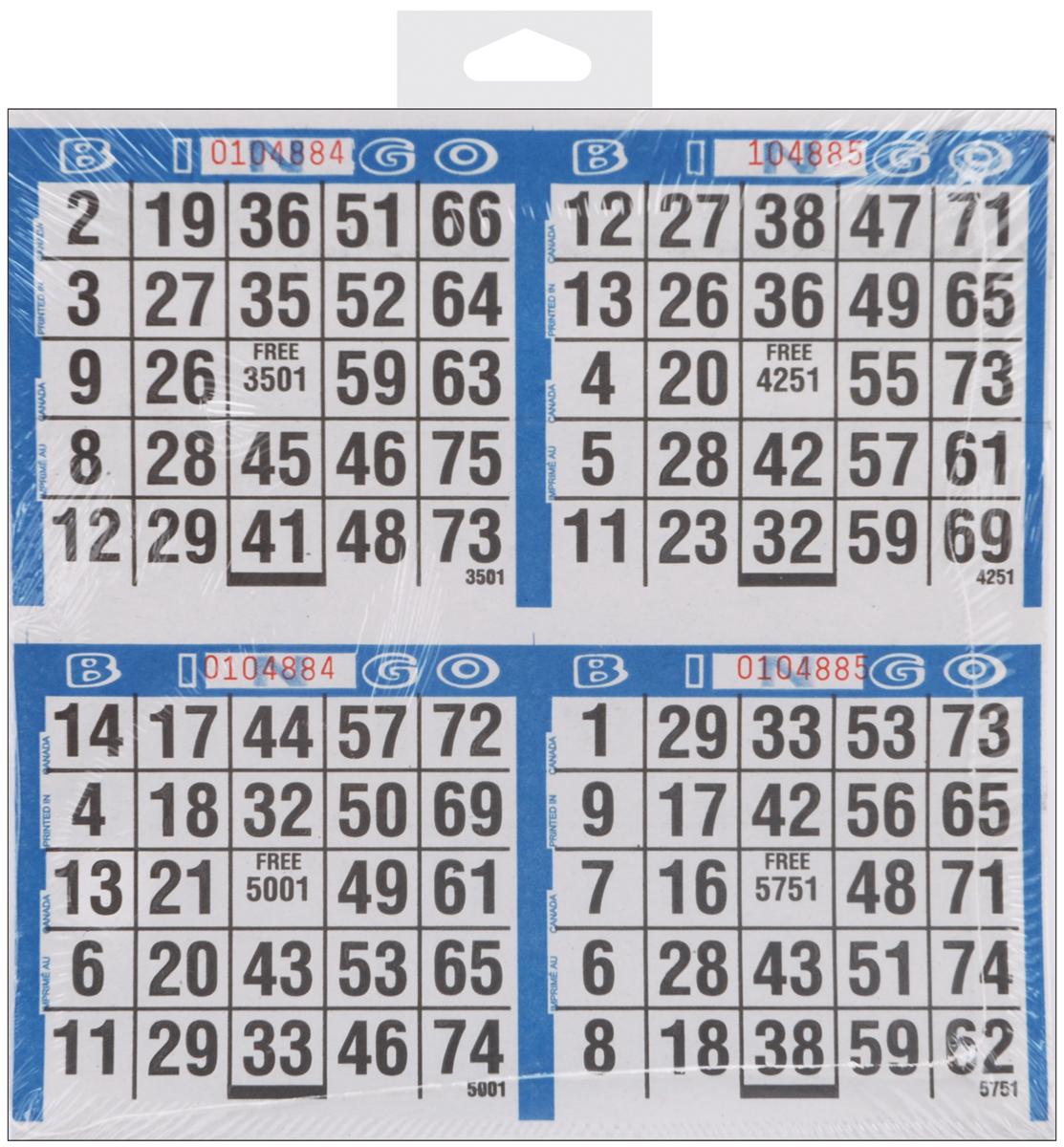 Primo Bingo Game Sheets 8 X8 125 Pkg 500 Games