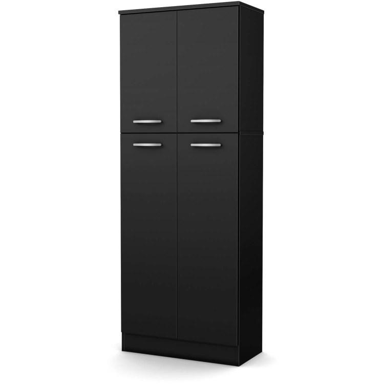South Shore Smart Basics 4 Door Storage Pantry Multiple Finishes Walmart Com Walmart Com