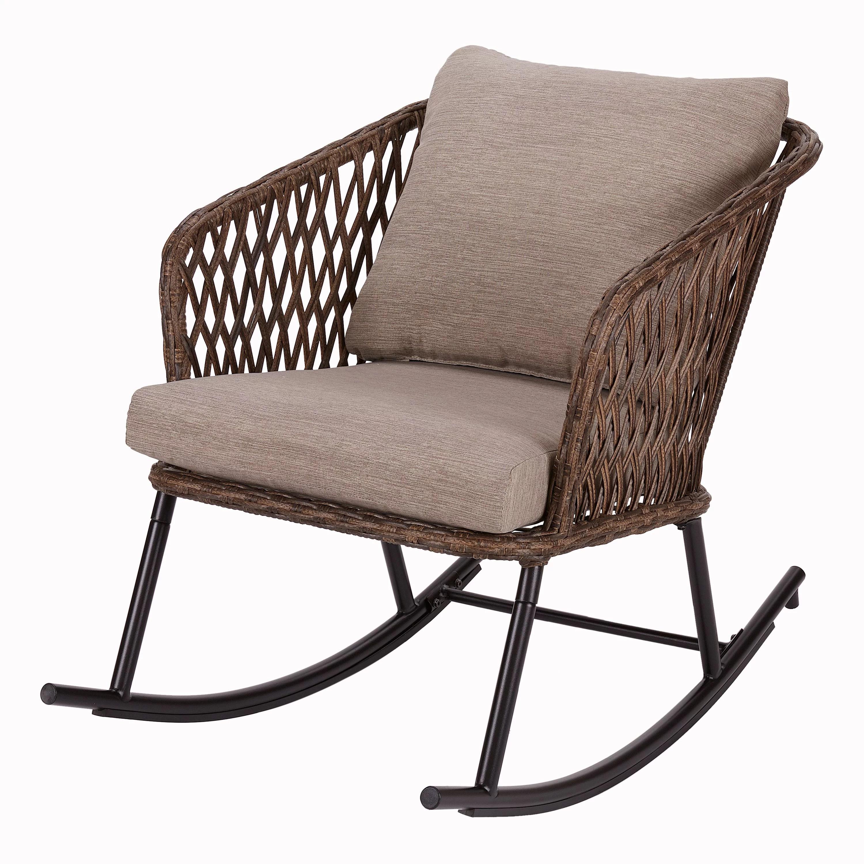 mainstays battle creek wicker outdoor rocking chair