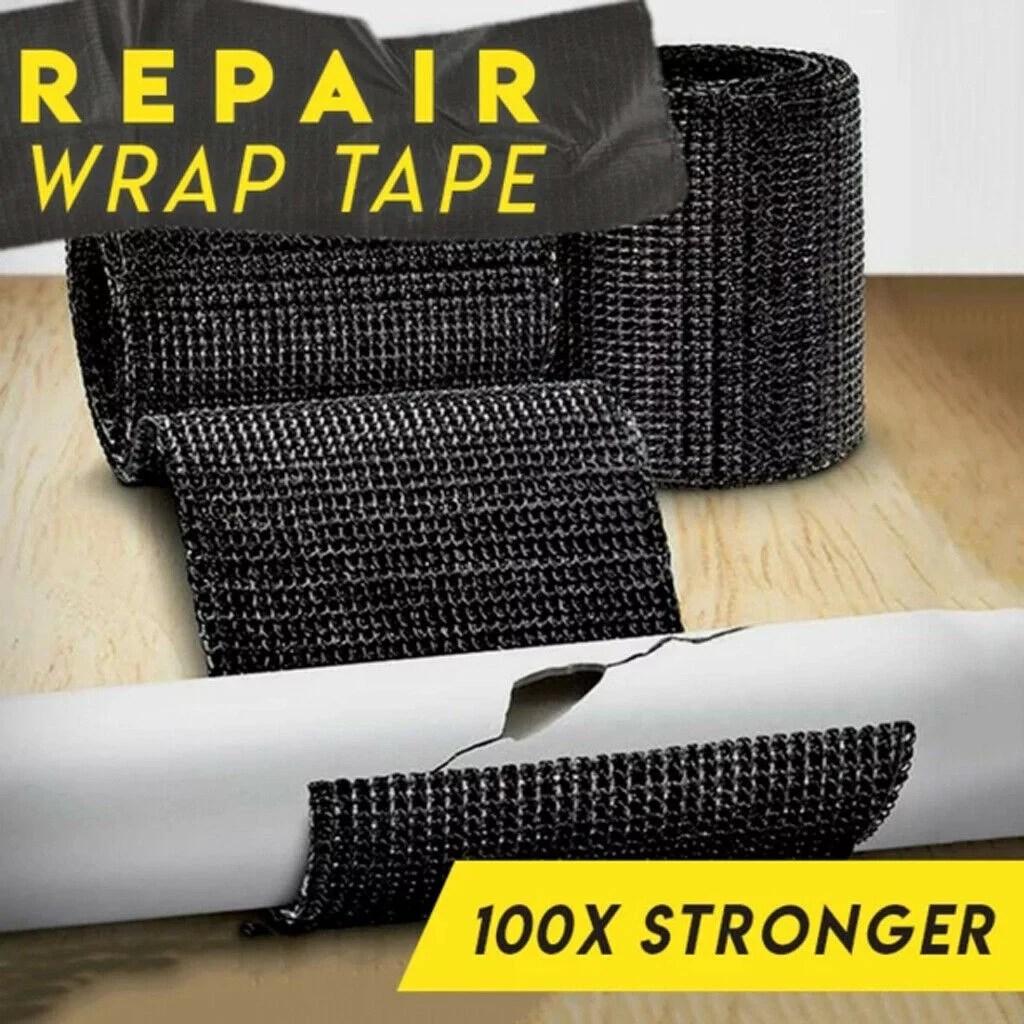 repair wrap tape 5m 1 roll fiberglass exhaust header pipe heat wrap tape black
