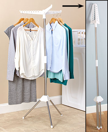 bigbolo foldable drying rack laundry clothing stand collapsible portable small air dry 1 tier