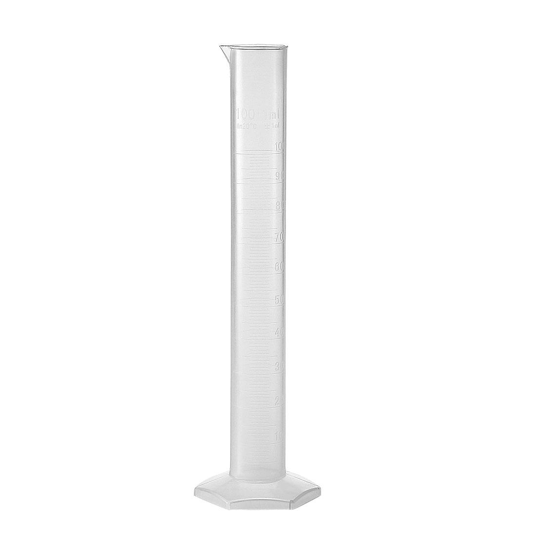 100ml Laboratory Measurements Clear White Plastic
