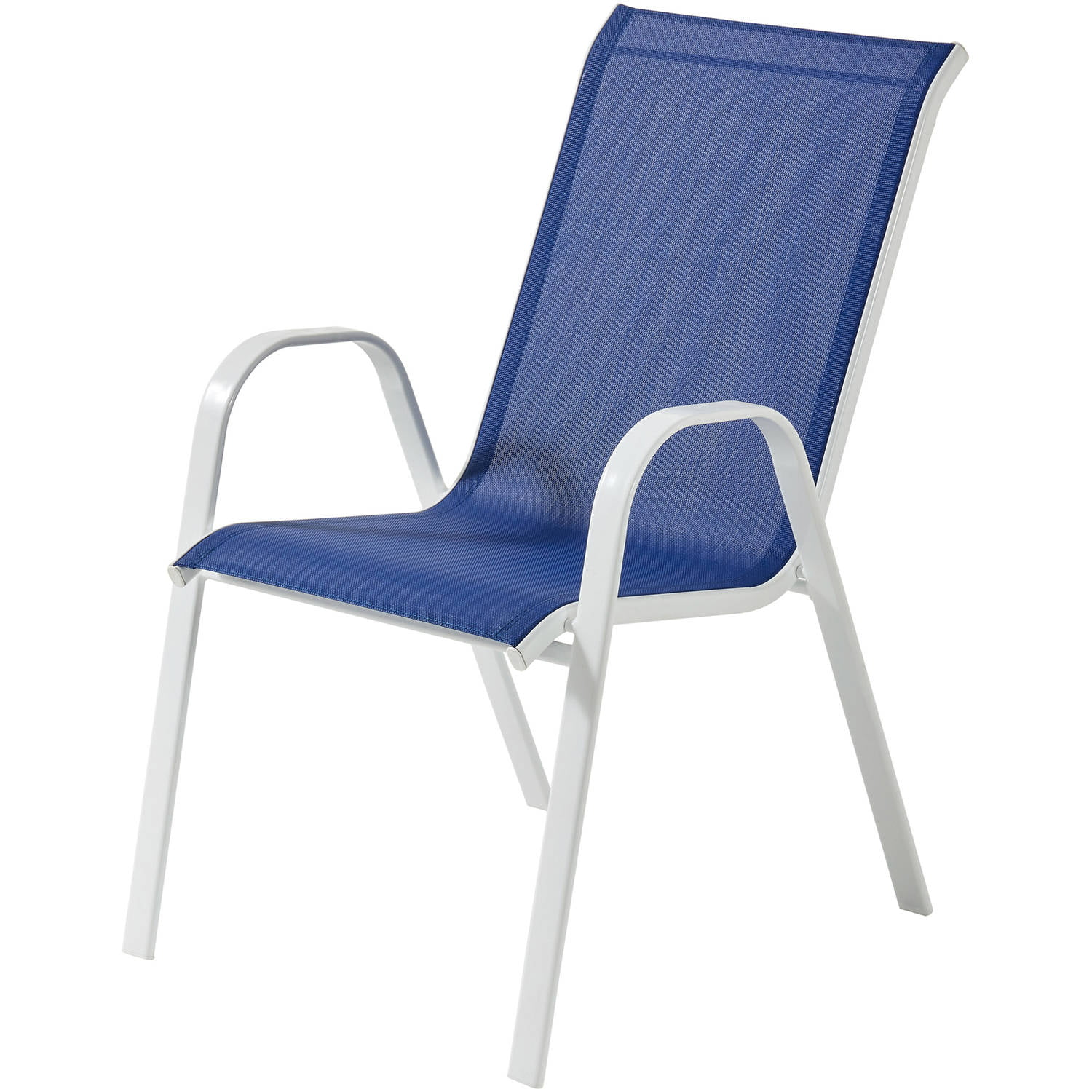 mainstays stack mesh chair blue