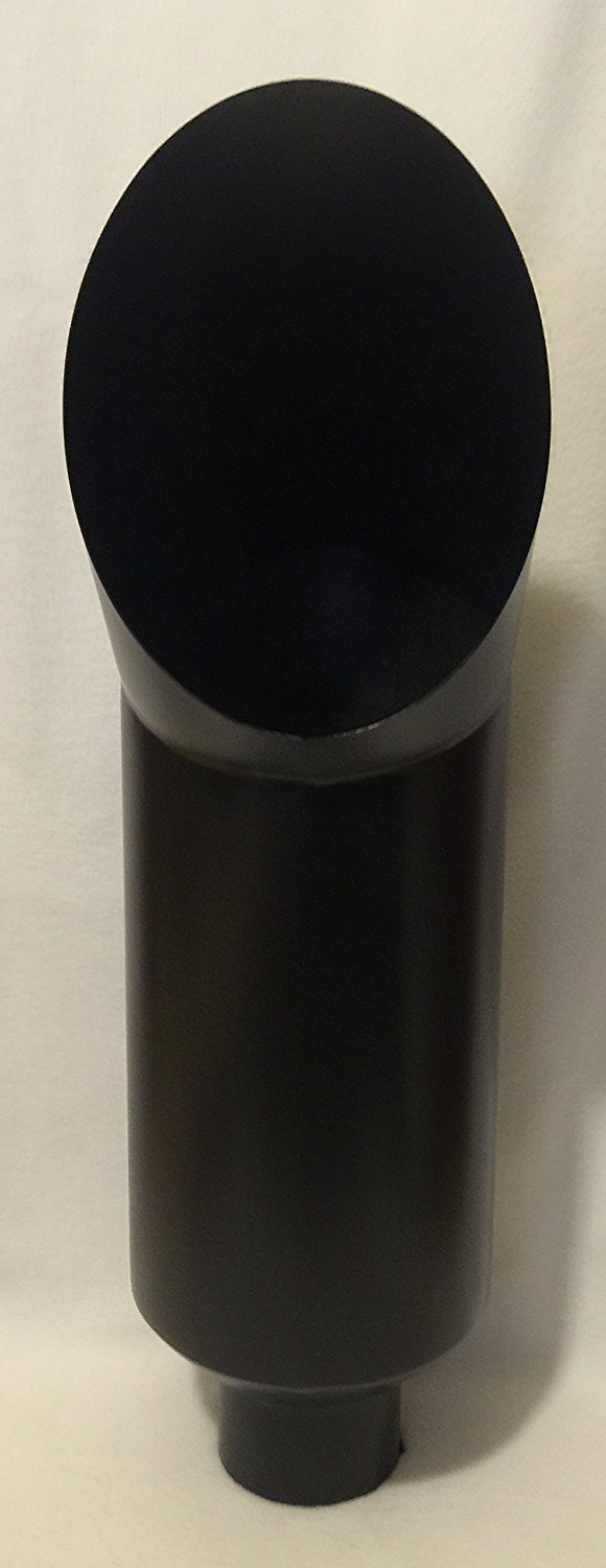 5 inlet x 10 outlet x 36 tall flat black diesel exhaust cat stack pipe weld on