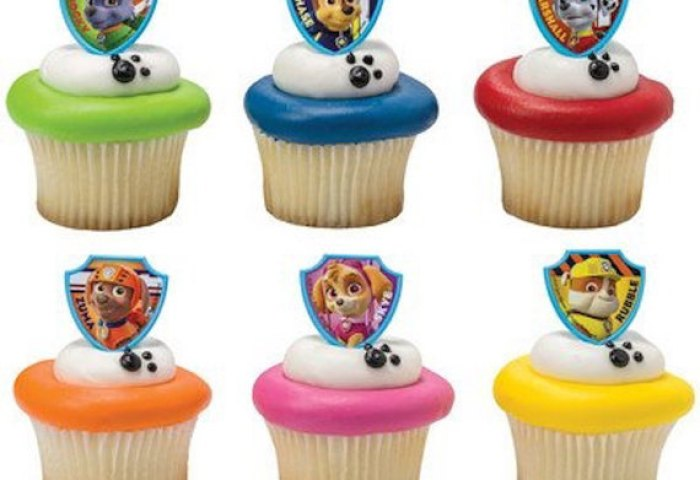 24 Paw Patrol Ruff Ruff Rescue Cupcake Cake Rings Birthday Party