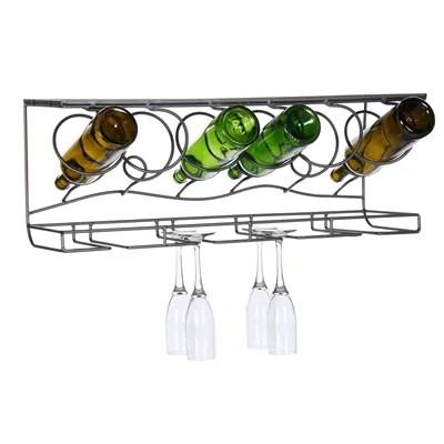 wine bar wall rack