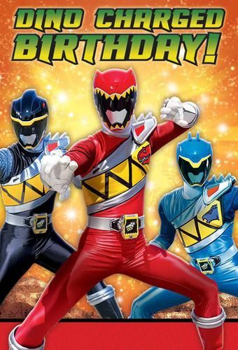power rangers dino charge birthday party invitation 16 count save the date