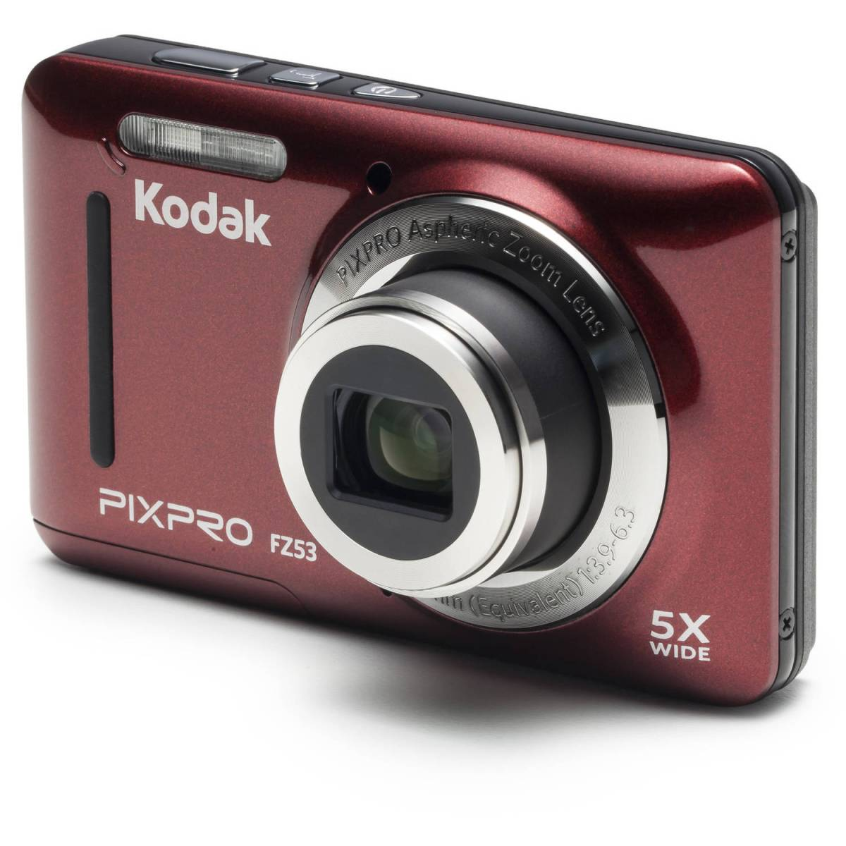 KODAK PIXPRO FZ53 Compact Digital Camera - 16MP 5X Optical Zoom HD 720p Video (Red)