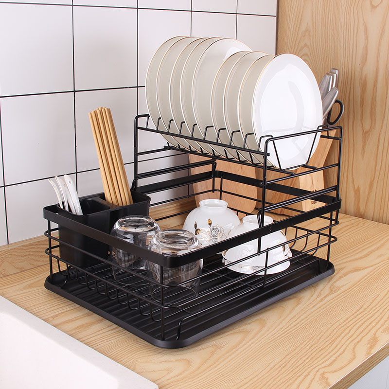 dish drying rack dish drainer for kitchen dish rack and drainboard set with removable utensil holder countertop dry rack