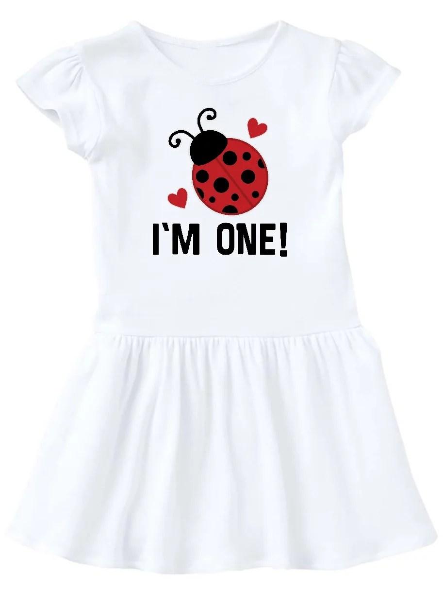 Inktastic 1st Birthday Ladybug 1 Year Old Infant Dress Female Walmart Com Walmart Com