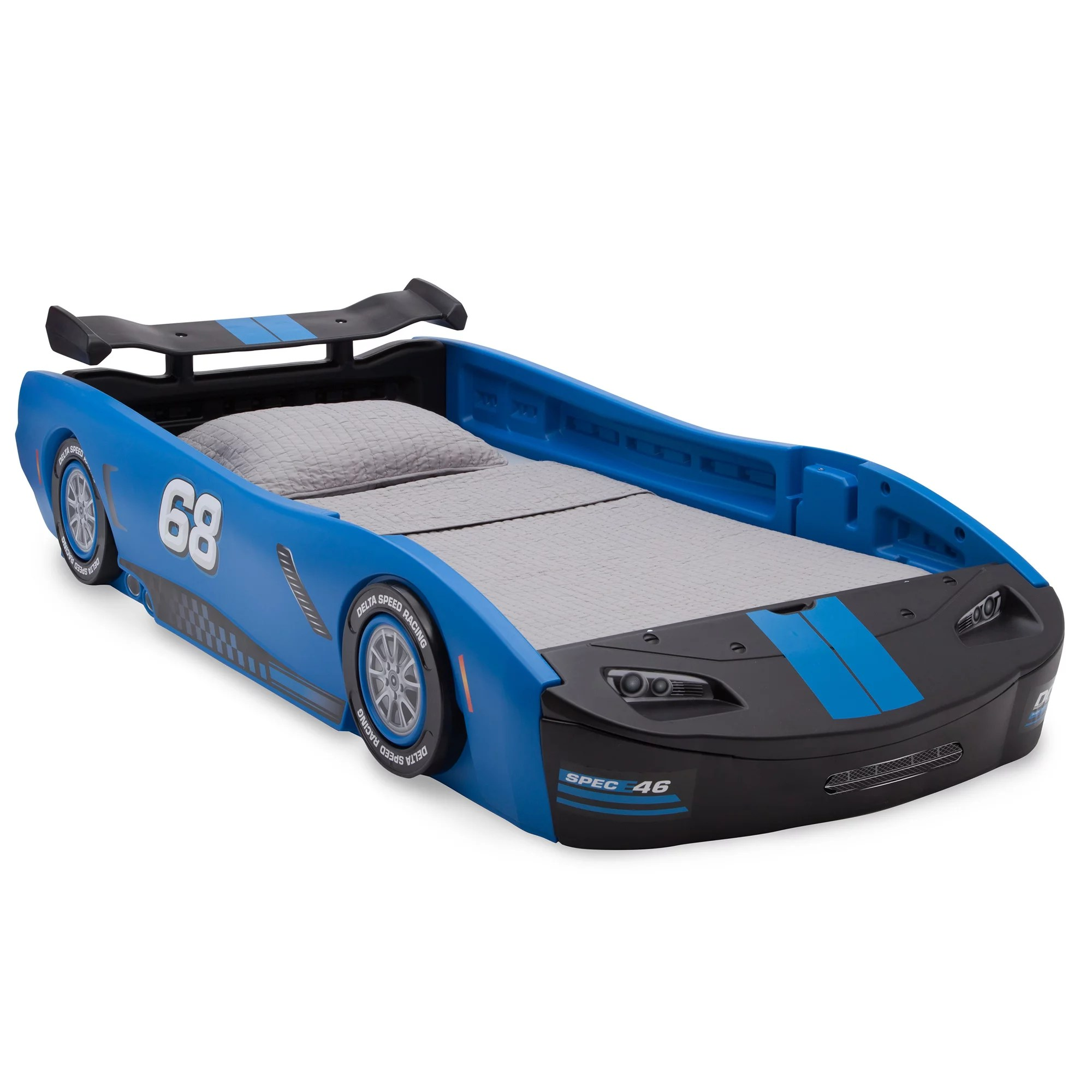Delta Children Turbo Race Car Twin Bed Blue Walmart Com Walmart Com