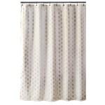 Home Garden Fabric Shower Curtain Plain White Extra Wide