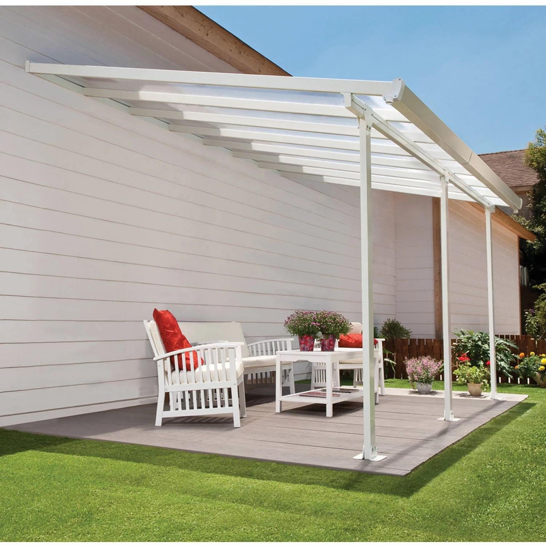 palram feria 26 x 13 patio cover white