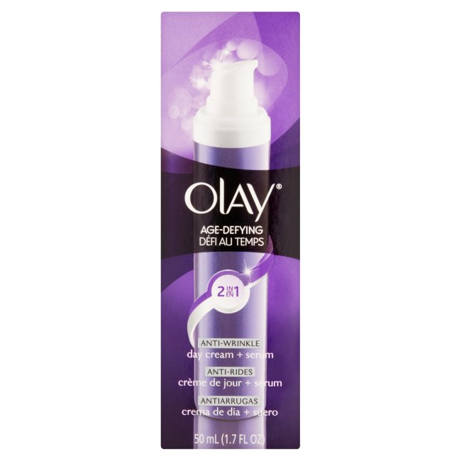 Olay Age Defying 2-in-1 Anti-Wrinkle Day Cream and Serum Face Moisturizer, 1.7oz