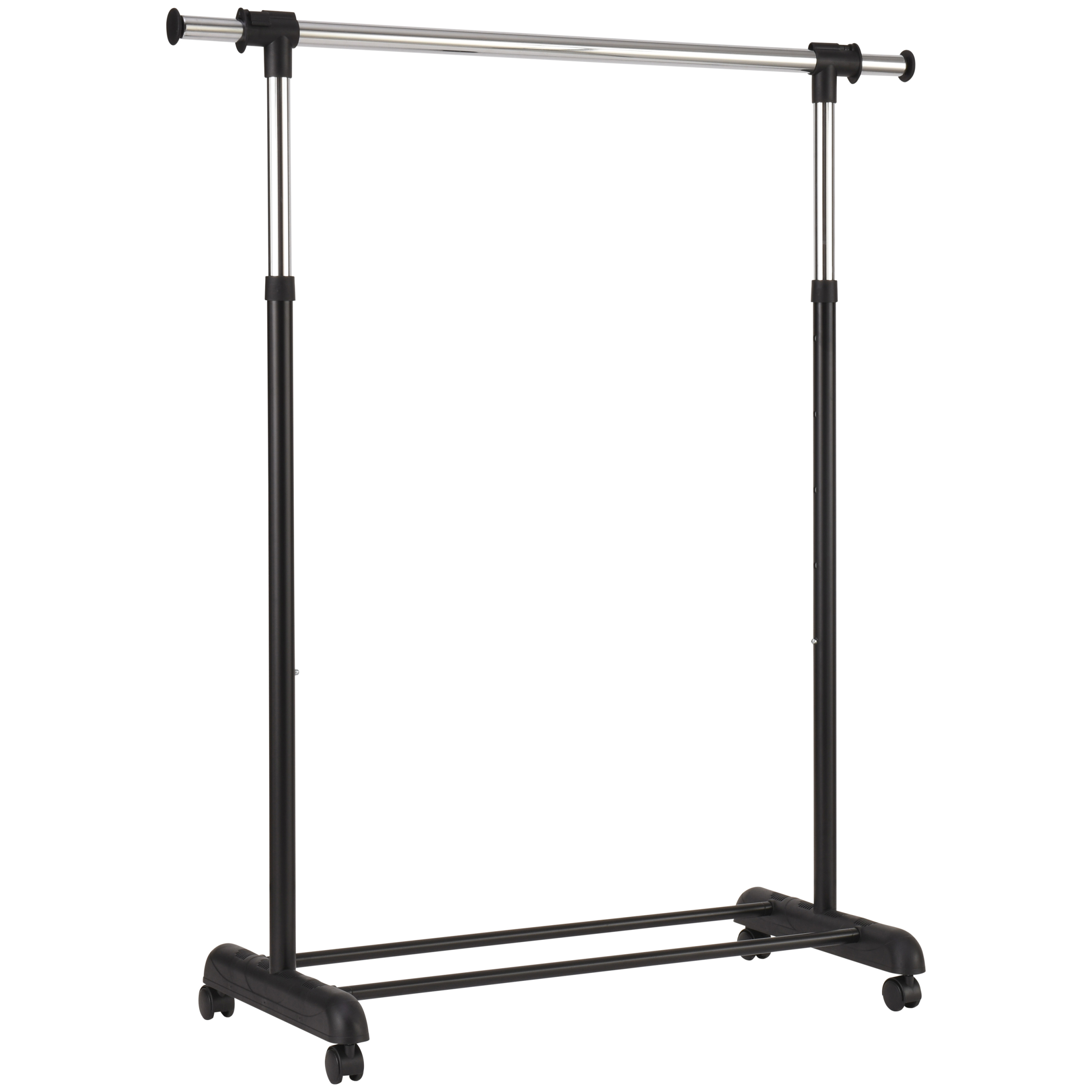 mainstays adjustable rolling garment rack chrome black walmart com
