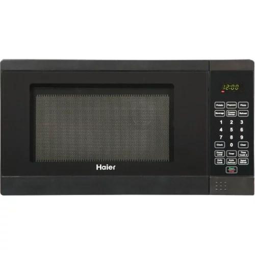 haier hmc720bebb microwave oven freestanding 0 7 cu ft 700 w black