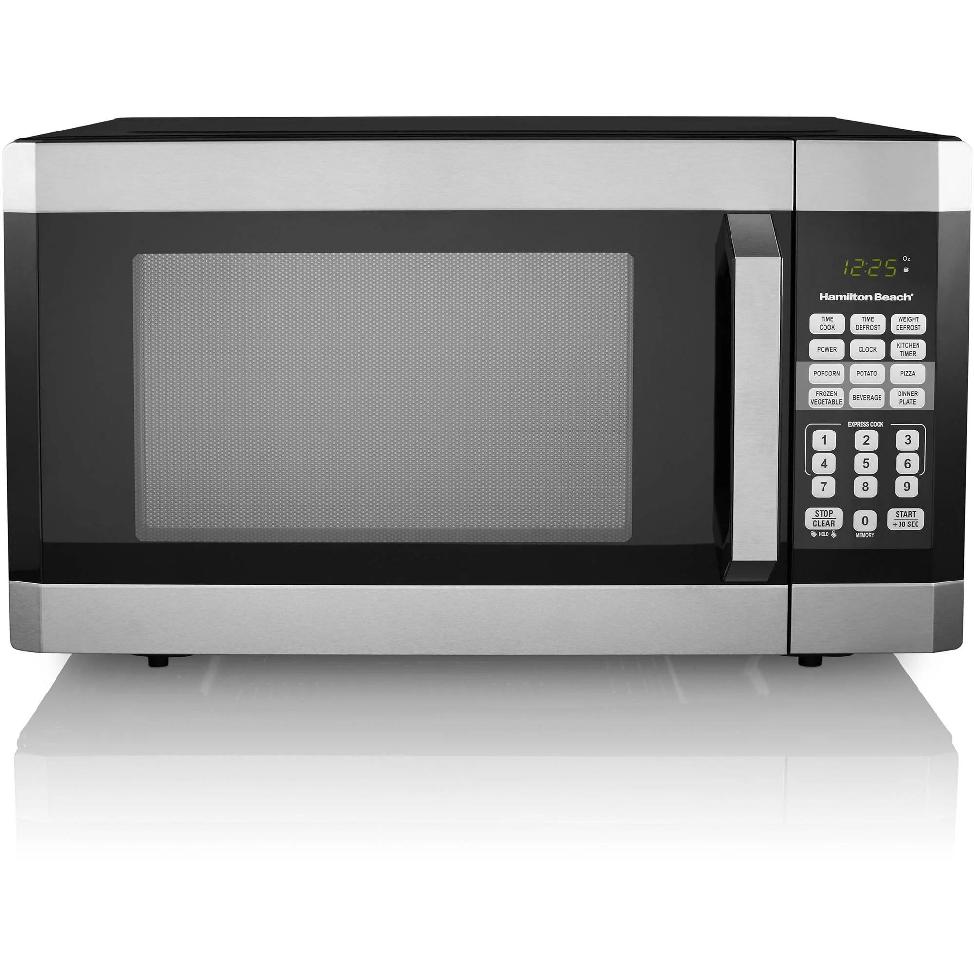 hamilton beach 1 6 cu ft digital microwave oven stainless steel